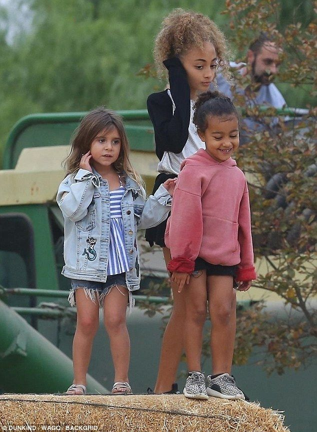 BFFs: Joining Kourtney and her five-year-old princess at the 20th Annual Fall Harvest Fest...