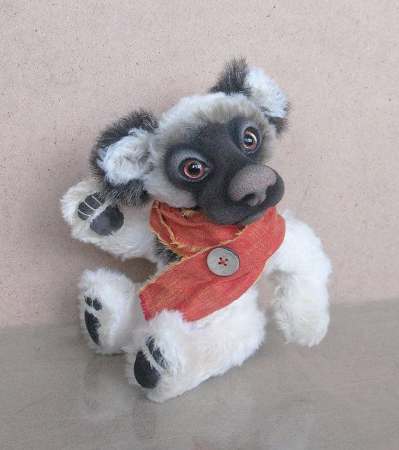 Wiki bear ooak author teddy bear artist teddy bear  от houseoffish