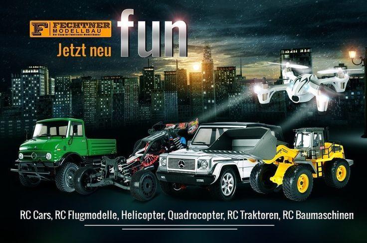 "Jetzt neu in unserem Modellbau Shop: ""Fechtner Fun"" RC Cars RC Flugmodelle RC Helikopter RC Traktoren RC Baufahrzeuge uvm. Wir freuen uns auf euer Besuch im Shop"