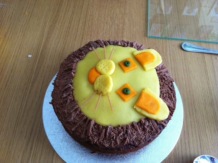 D's 2nd birthday - lion cake!