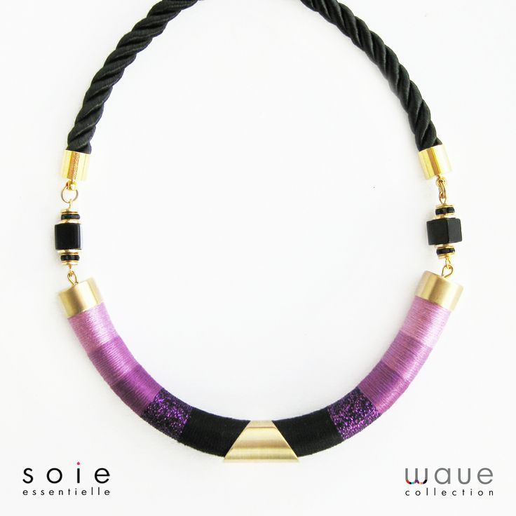 Radiant orchid necklace by Soie Essentielle.