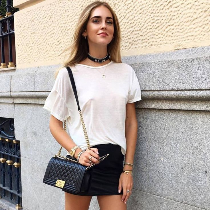Chiara Ferragni in our Kell Lambskin Mini