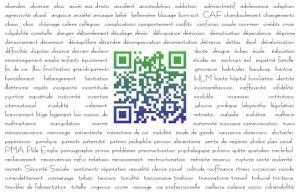 Verso carte de visite mots clés Cabinet Social Stéphanie LADEL