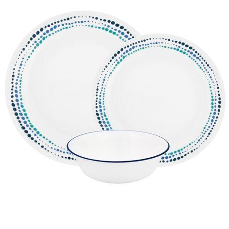 Corelle Ocean Blues 12pc Dinner Set