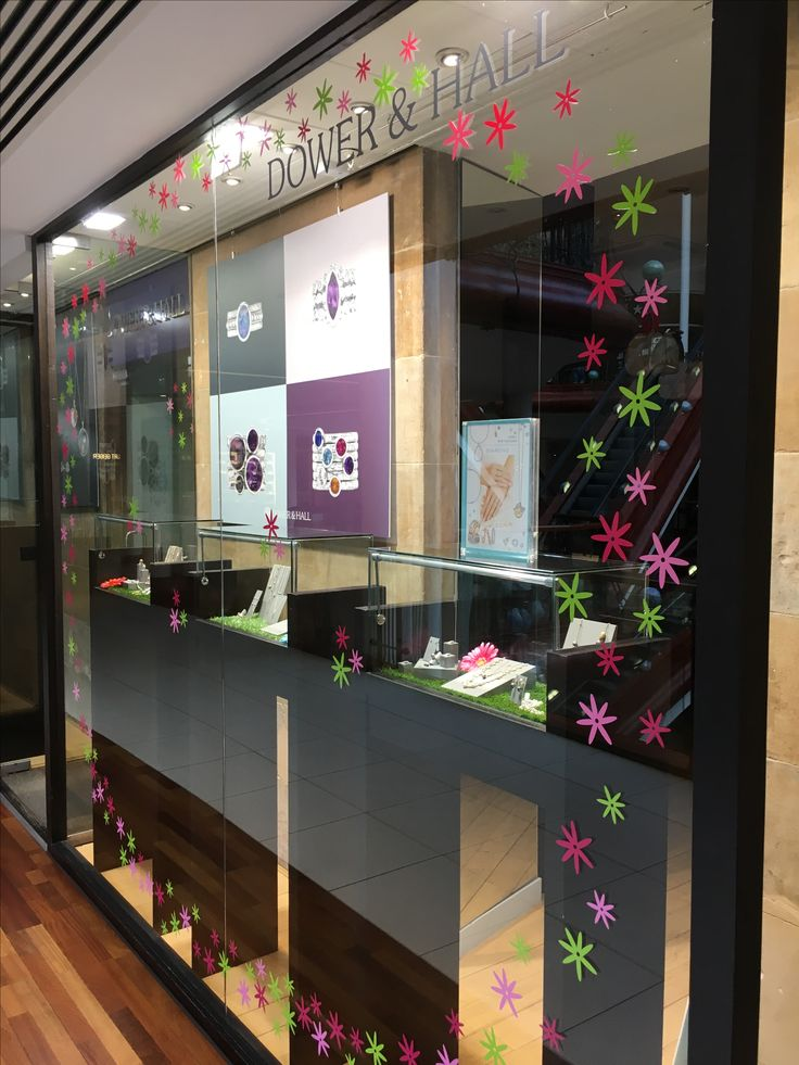 Spring shop window sticker kit which creates a delicate flower theme within the shop window to draw attention to the window and its contents