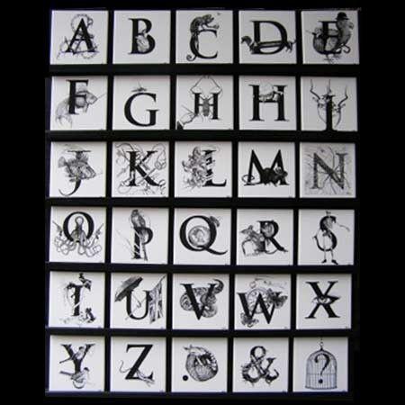 Ceramic Letter Tiles | Tile Design Ideas