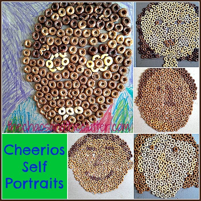 Cheerios Self-Portraits. Part snack food pointalism, part invitation to celebrate and discuss diversity.
