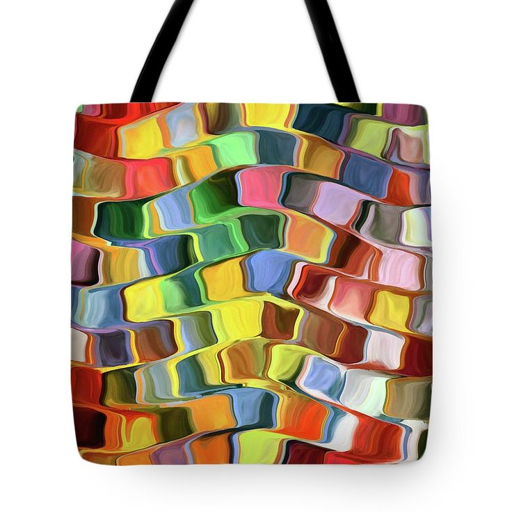 Abstract Tote Bag featuring the painting Colorful Pop Abstract by Grigorios Moraitis