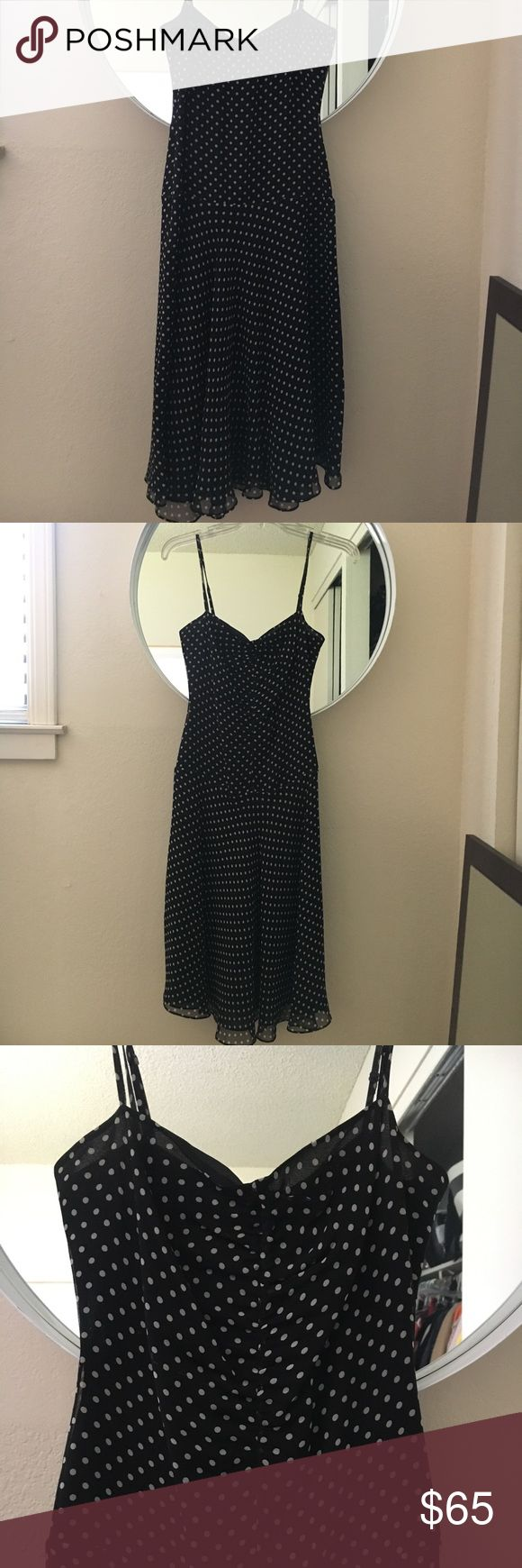 BCBG Max Azria polka dot cocktail dress Perfect condition - only worn once. BCBGMaxAzria Dresses Midi