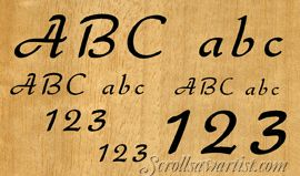 scroll saw letters and numbers templates letter number set 4