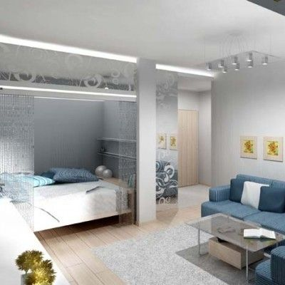 дизайн комнаты с нишей в однокомнатной квартире фото 7