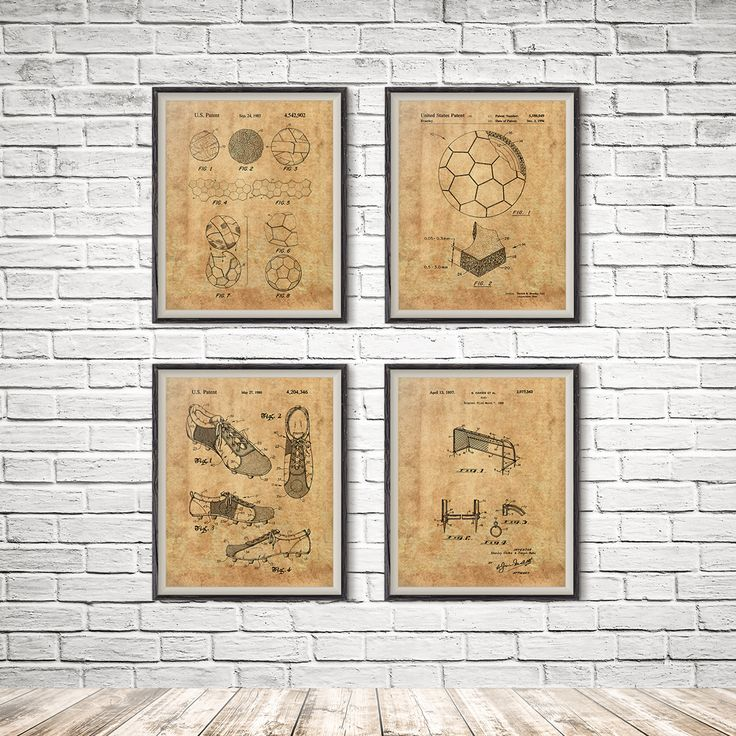 Soccer Poster, Soccer Wall Decor, Wall Art, Blueprint, Soccer Decor, Soccer