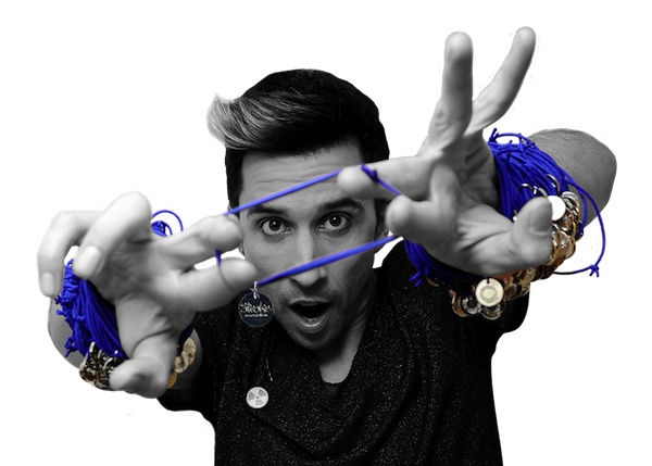 Russell Kane promotes Stroke Solidarity String