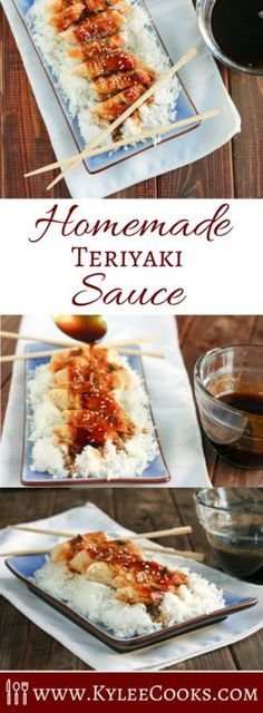 This homemade Teriyaki Sauce is the real deal. Sweet, salty and perfectly balance with the addition of garlic and ginger - who needs take-out? Add it to some chicken, serve it over rice. Hello, dinner!