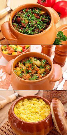 ТОР - 7 Вторые блюда в горшочках   Готовим вместе