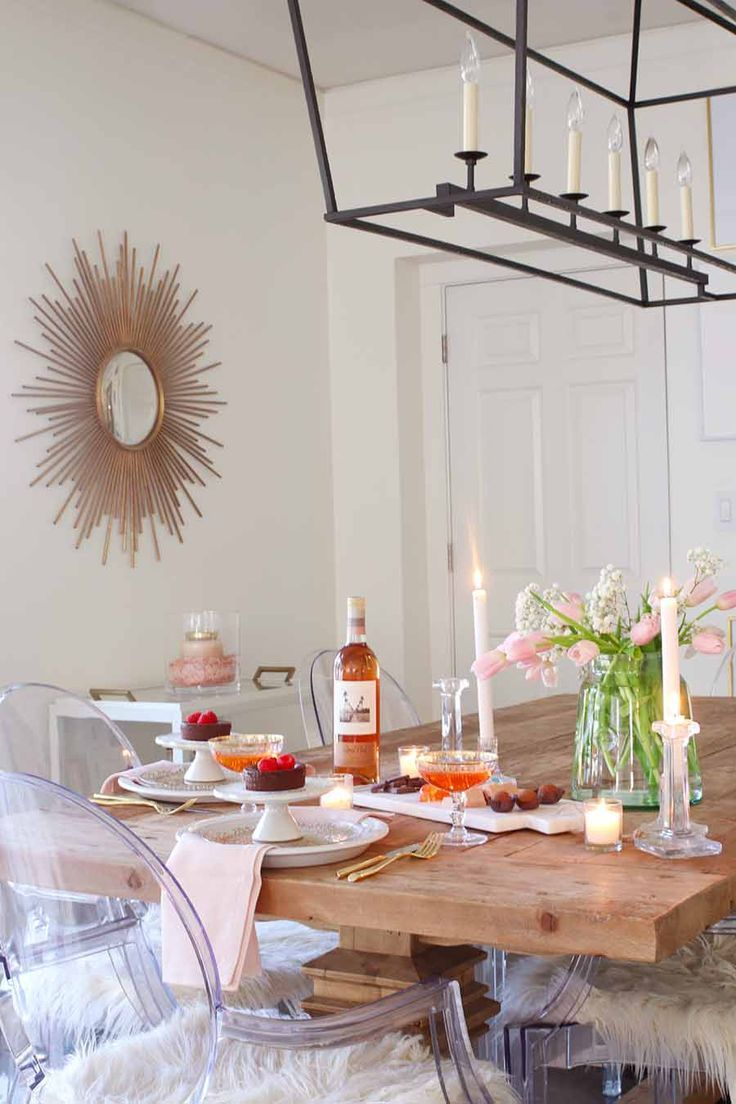 Valentine S Day Table Candlelit Dinner For Two Dining Table Design Dining Room Design Home Decor Trends
