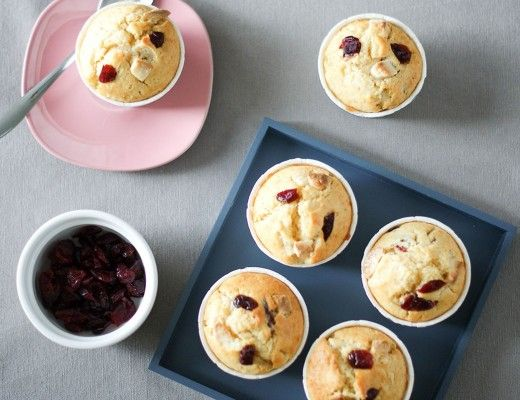 Muffins Cranberry & Chocolat Blanc | Lilie Bakery 2