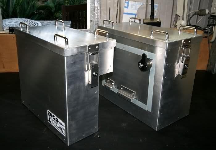 Homemade Aluminium Panniers Advrider Kawasaki Versys