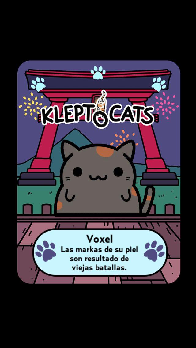 """Aquí está mi nuevo amigo """"Voxel"""" #KleptoCats @HyperBeard #iOS www.kleptocats.com/share"""