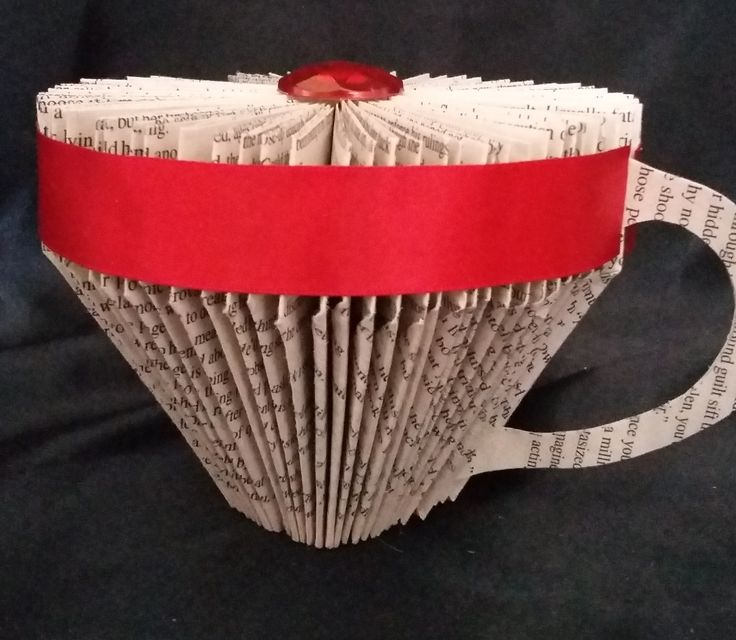 BOOK FOLDING STEP BY STEP TUTORIAL - BOOK ART - TEA CUP