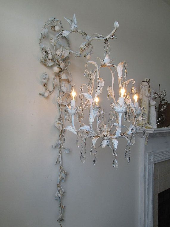 37 best chandelier accessories images on pinterest chandeliers chandelier lighting swag w ornate wall hook by anitasperodesign mozeypictures Images