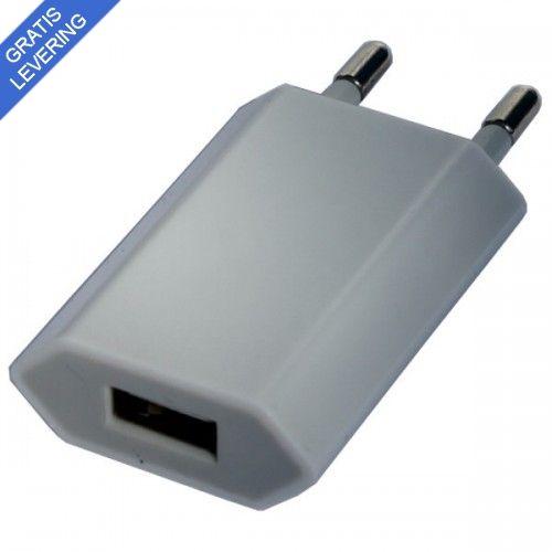 iPhone – iPad USB vægoplader - Hvid