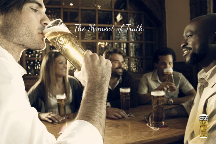 SAB Draught Beer Ritual - The Moment of Truth. By http://www.the-greenhouse.co.za