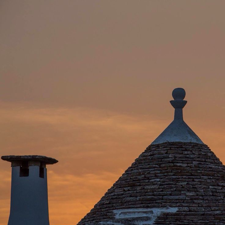 Sunset above our Trulli. Have a Nice evening from La Chiusa di Chietri Resort!