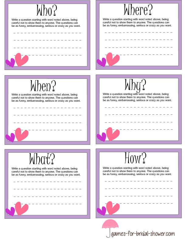 Lilac Free Printable Cards For Game Who When Where