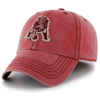 Official New England Patriots ProShop - Throwback '47 Brand Palmetto Cap-Tuscan Red