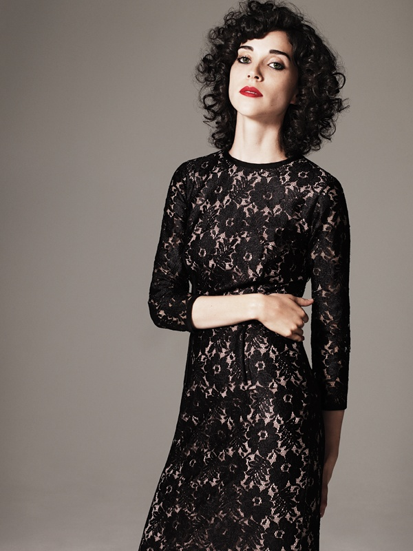 St Vincent--Love the shape of her hair.