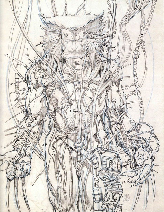 Barry Smith Wolverine A  Weapon X for more cool stuff, check out: adamantiumclaws.com #adamantiumclaws #adamantium #weaponx #wolverinesketch #wolverinedrawing