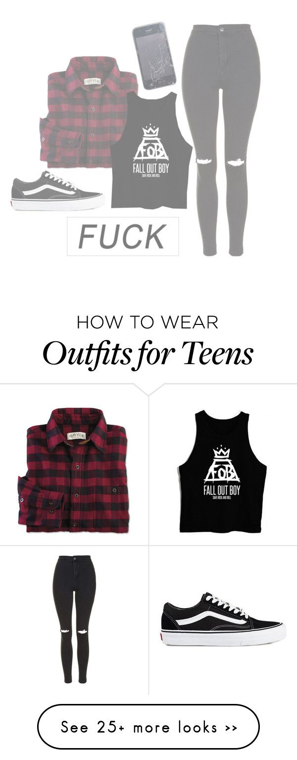 """[F#CK]"" by trovblemakerz on Polyvore featuring moda, Topshop y Vans"
