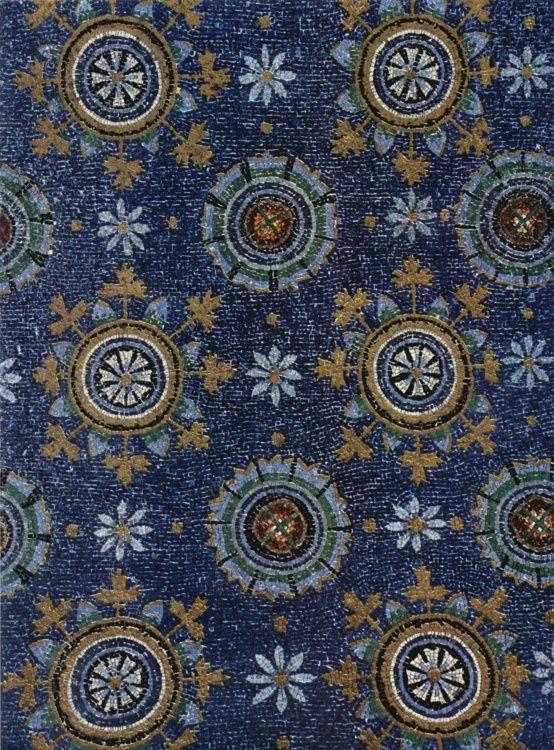 Galla Placidia starry sky, mosaic Ravenna Italy