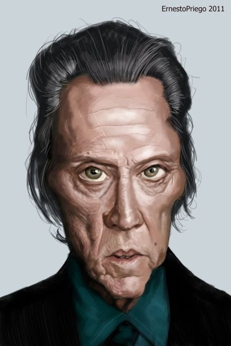 Christopher Walken [by Ernesto Priego] #Caricature #FunnyFaces