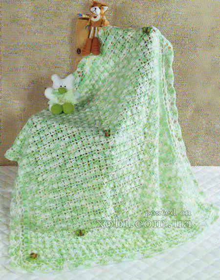 crocheted baby blanket 0068