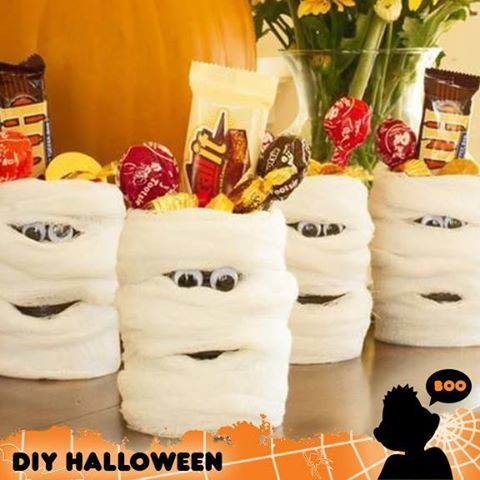 mummy candy cans make ahh some party favors learn how to diy here halloween - Diy Halloween Favors