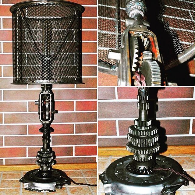 https://www.facebook.com/groups/gearworkshop/ #table_lamp #steampunk #motorсycle #drill #hand_drill #vintage #handmade #loft #GearWorkshop #лампа_лофт #лофт
