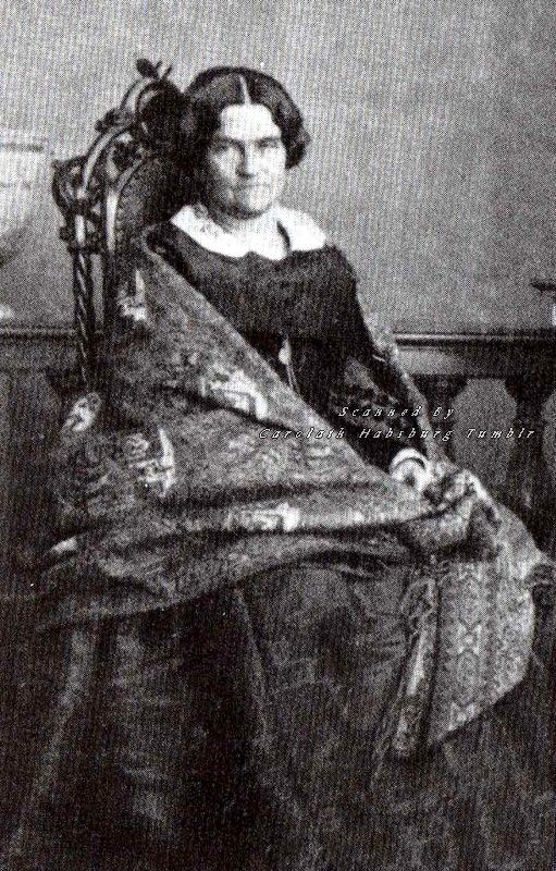 Ludovika in Bayern, mother of Kaiserin Elisabeth of Austria. 1860s.
