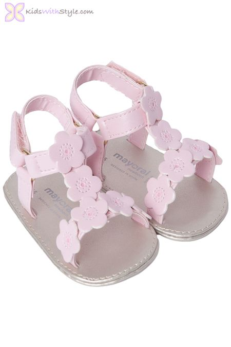 5868dcd9926a Baby Girl Floral Pink Sandals   Baby Shoes   Pinterest   Baby, Baby Shoes  and Baby wearing