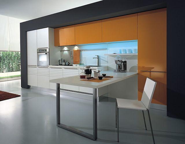 Cocinas lineales la combinaci n de colores cocinas peque as decoraci n pinterest - Colores cocinas pequenas ...