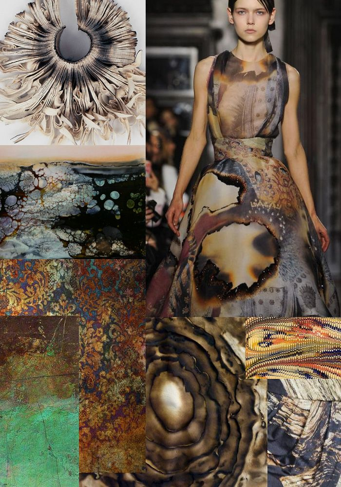 Inspiration Autumn/Winter 2013 Dark Burnouts and Distressed Tapestry print pattern