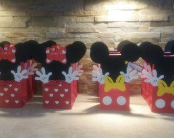 Qty. 12 Minnie Mouse Party Bags Minnie by ThePaperCutDesigns