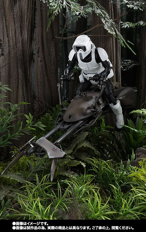 Bandai - SH Figuarts - Star Wars - Biker Scout and Speeder