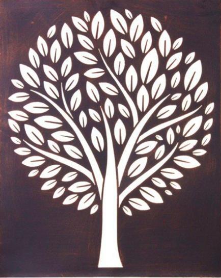 cutout tree metal art ...