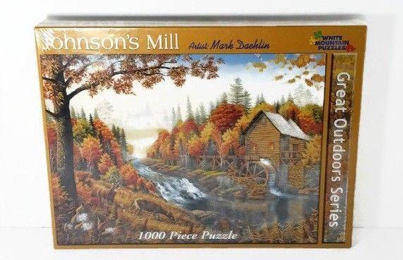 Johnson's Mill 1000 Piece Jigsaw Puzzle by White Mountain Puzzles **SEALED** #WhiteMountainPuzzles