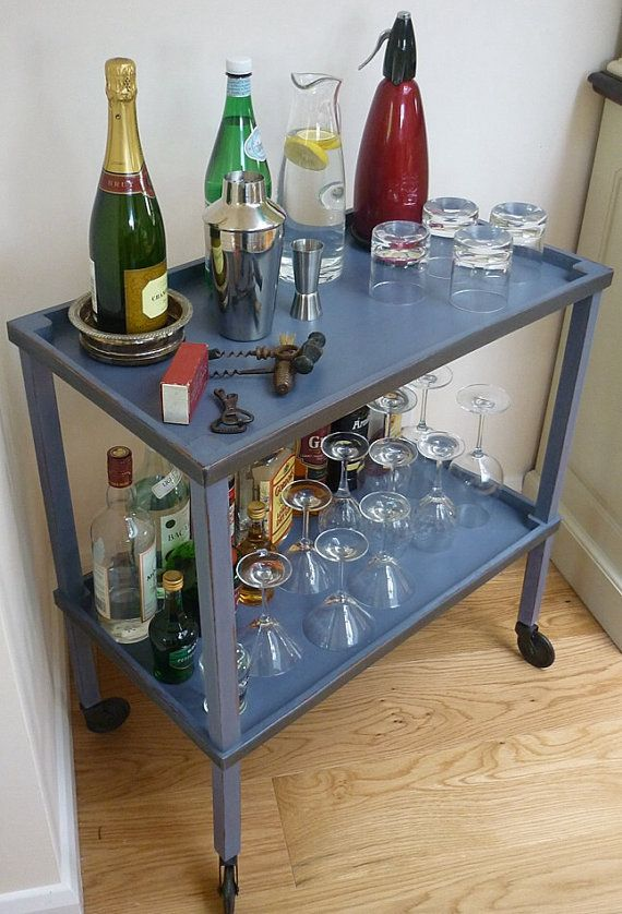 Versatile Grey Painted Trolley * Drinks Trolley * Tea Trolley * Storage Trolley