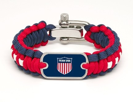 Regular Survival Bracelet™ - Team USA Shield (My country is going to beat your country's butt in the Olympics this year.)