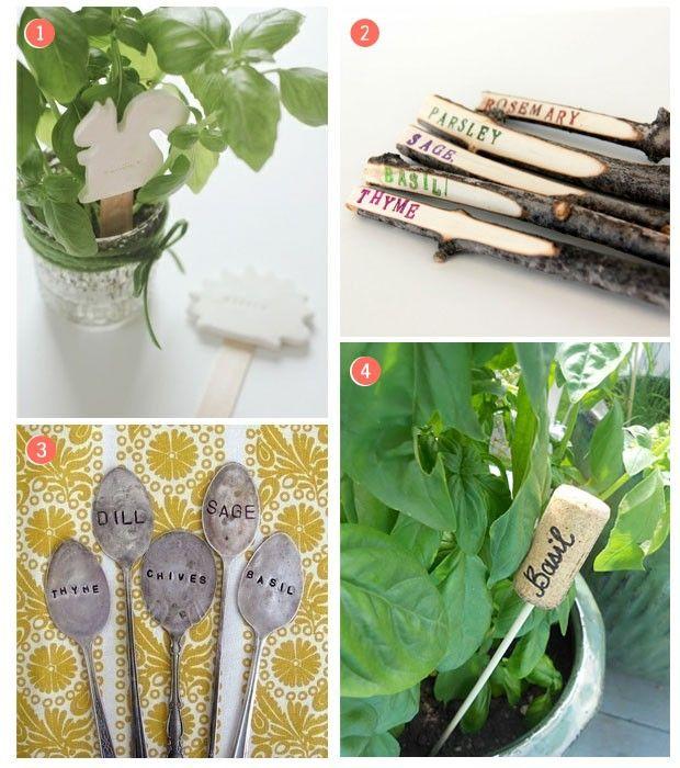 Inspiración: Carteles rústicos para las plantas del jardín