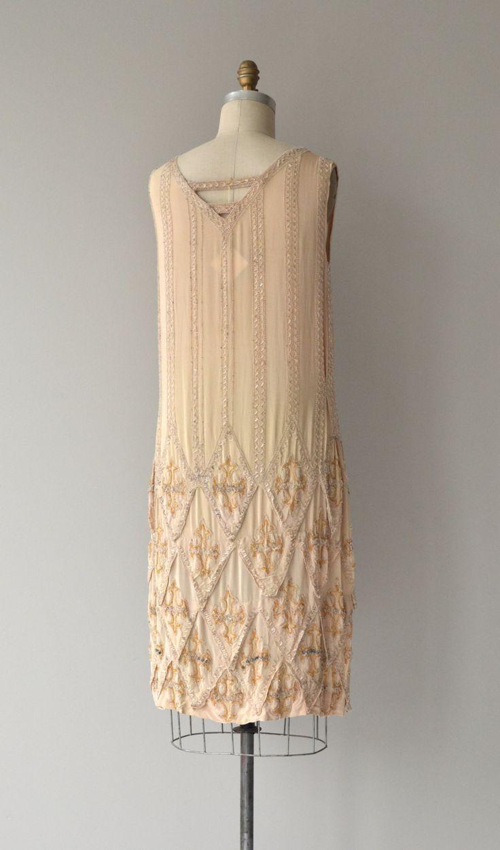 Loire Valley dress vintage 1920s dress beaded 20s от DearGolden